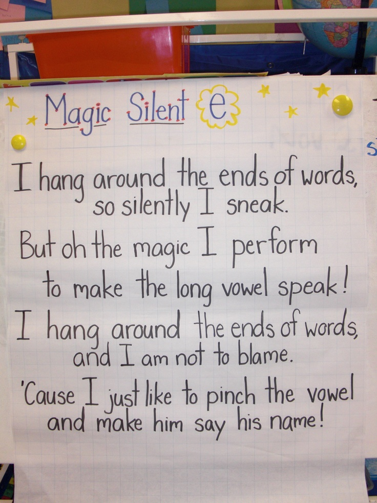 385 best Education - Poems images on Pinterest | School, Long vowels ...