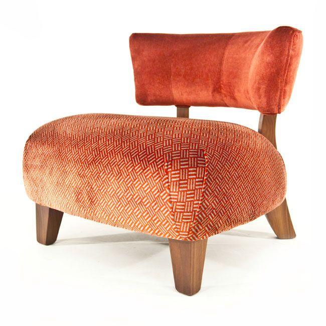 Henderson Russell Minerva #chair Orange Velvet Www.kingsinteriors.com