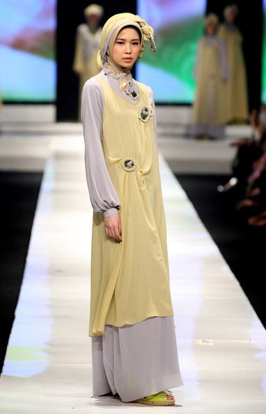 A model showcases designs on the runway by Monika Jufry as part of APPMI Show 3 on day three of Jakarta Fashion Week 2009 at the Fashion Tent, Pacific Place on November 16, 2009 in Jakarta, Indonesia.