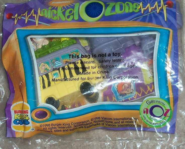 BURGER KING ~ Nickelodeon ~ NICKEL O ZONE ~ (Wild Thornberry's Safari Bus with Rhino) ~ 1998 >> SUPERB BEST OFFER! : FREE Toys and Games