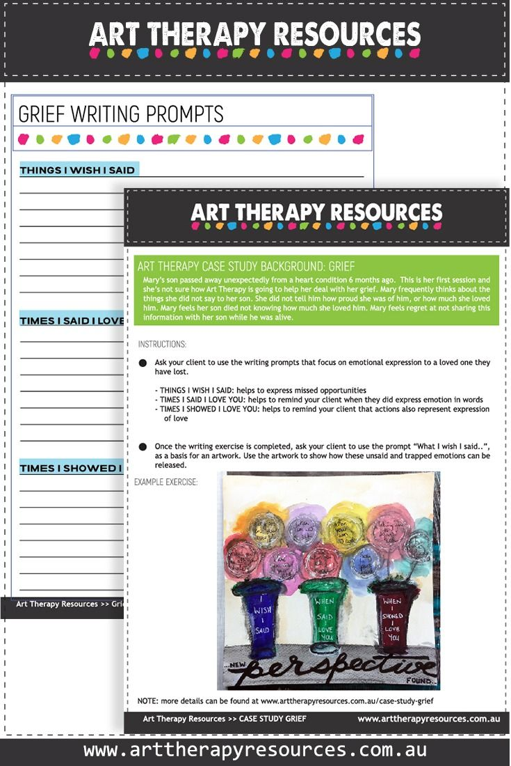 FREE DOWNLOAD: Case Study: Using Art Therapy for a Client Who Is Grieving. Art Therapy Exercise