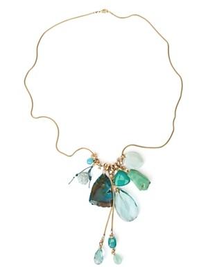 Turqoise Long Tassel Necklace
