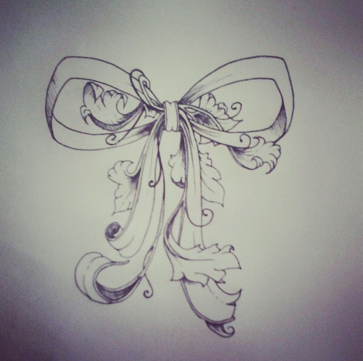 botanical bow tattoo design bow with ballet shoes hanging z tattoos i can make into my own. Black Bedroom Furniture Sets. Home Design Ideas