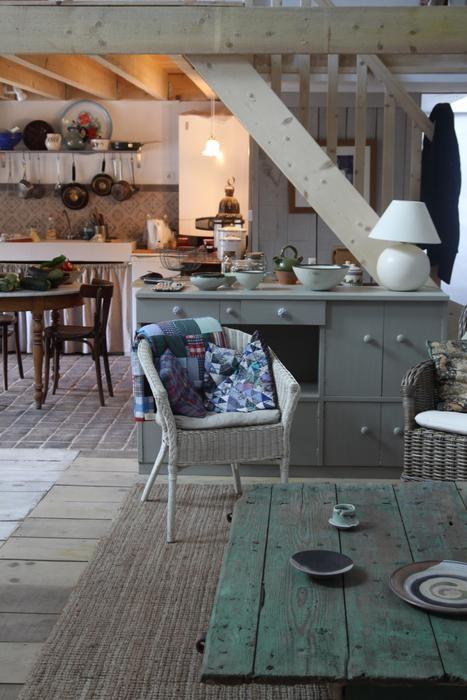 Photo deco : Salon     Grange Amenagee Loft