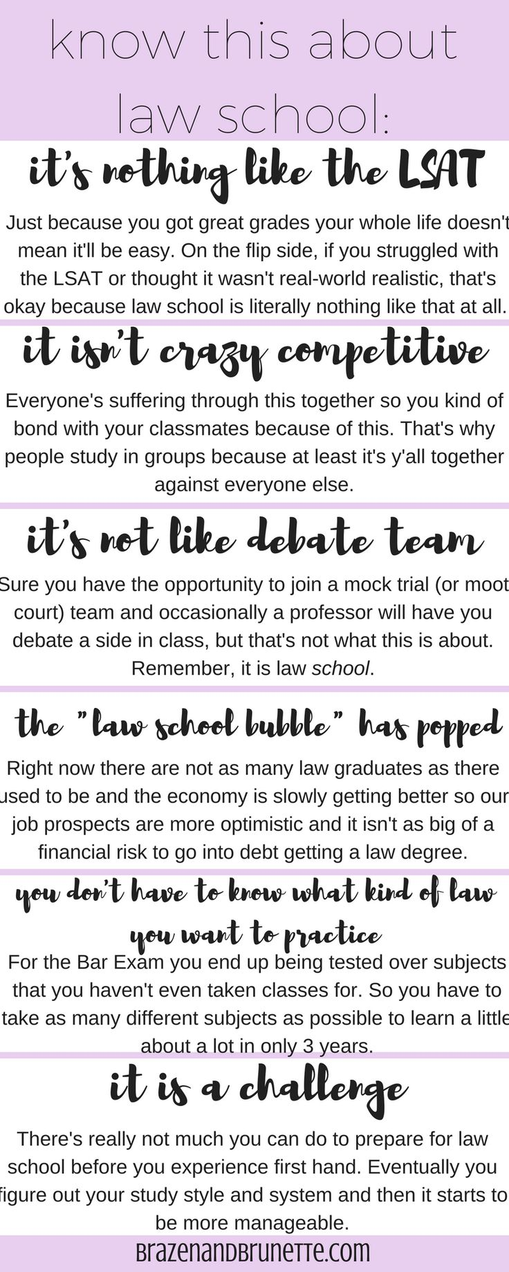 11 things to consider before applying to law school | brazenandbrunette.com