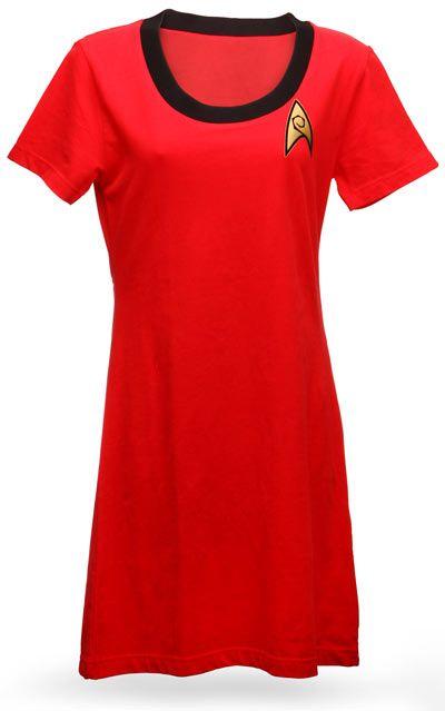 Star Trek - T-shirt dress  available here: http://www.thinkgeek.com/tshirts-apparel/womens/d7a3/