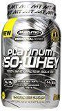 MuscleTech Platinum 100% ISO Whey, 100% Whey Protein Isolates Powder, Vanilla Ice Cream, 1.76 lbs (797g)