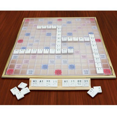 Deluxe scrabble game braille version adapted and for Large letter scrabble game