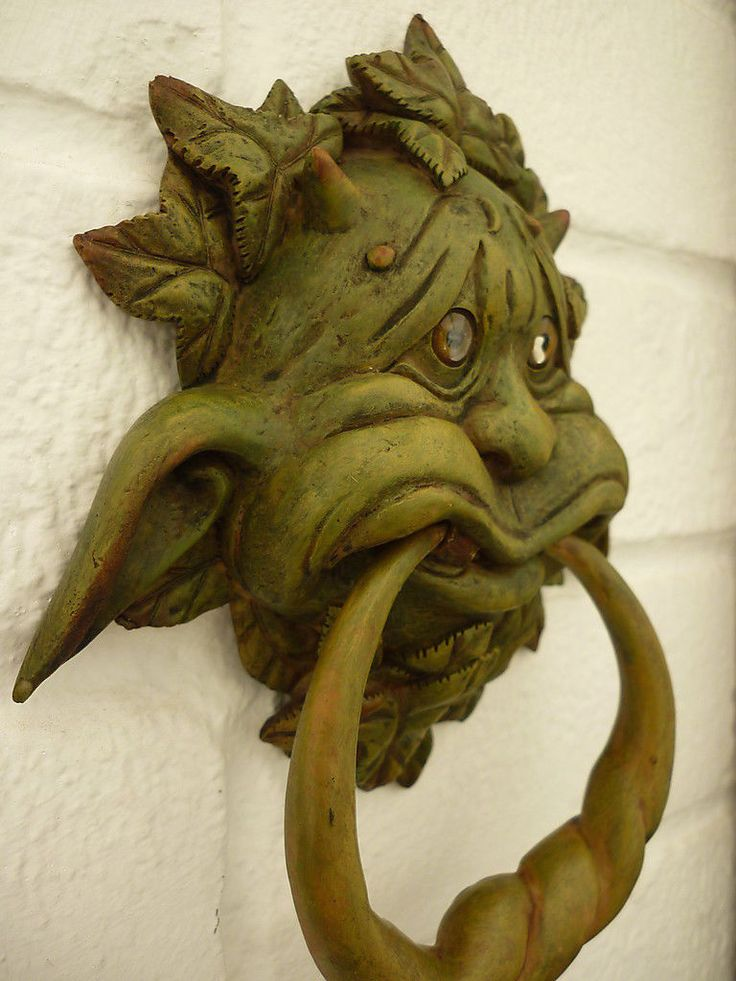 17 best images about gargoyles and grotesques on pinterest - Green man door knocker ...