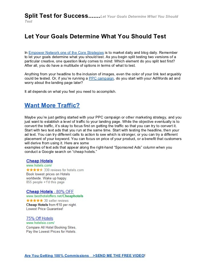split-test-for-success-let-your-goals-determine-what-you-should-test by Pam Lindberg via Slideshare