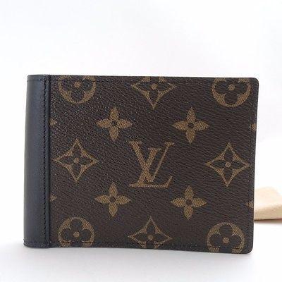 Authentic LOUIS VUITTON Monogram .Macassar Portefeiulle. Mindoro Walle M60411