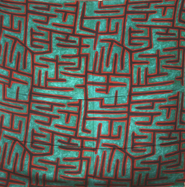 Jimmy Pike, Jilji Sandhills (green), silk scarf, 110 x 110 cm. Japingka Gallery, Perth.