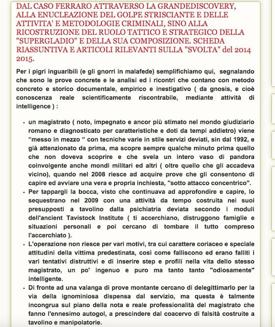 CDD Paolo Ferraro: IL CONSIGLIO DI STATO INVESTITO DELLA GRANDE DISCOVERY