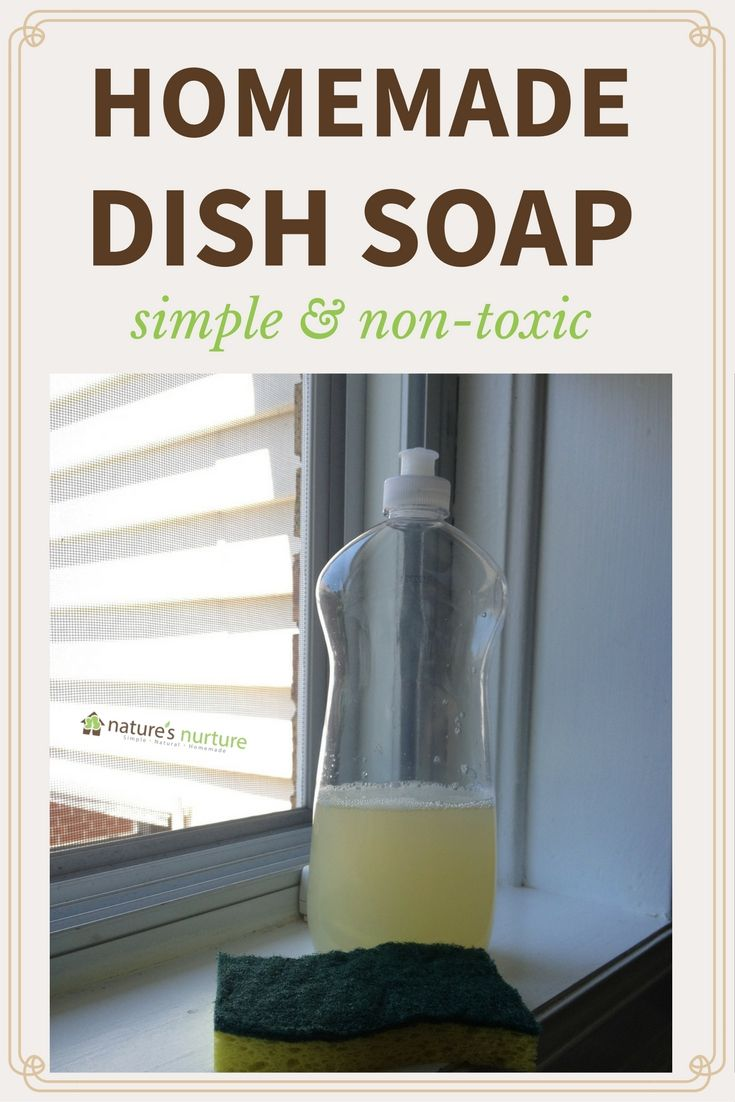 Homemade Dish Soap Recipe - How to make homemade dish soap with simple, non-toxic ingredients.