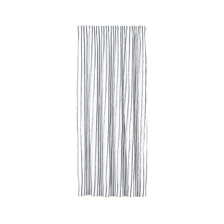 """Kendal 50""""x84"""" Blue Striped Curtain Panel 