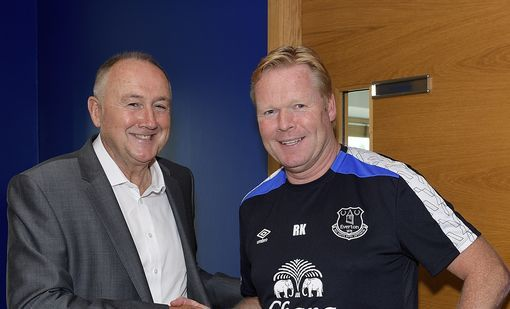 Ronald Koeman welcomes Steve Walsh to Everton as new Director of Football back in July.