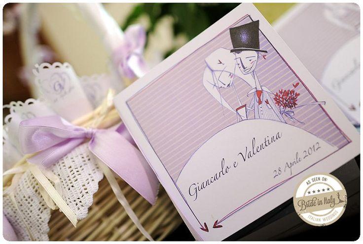 A lovely handmade illustration for the most romantic invitation, ph Fibre di Luce http://www.brideinitaly.com/2013/11/fibrediluce-urbino.html #italianstyle #wedding