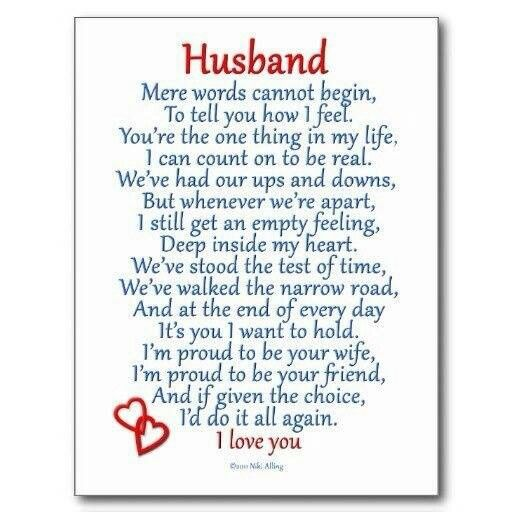 Husband ... I Love You Poem