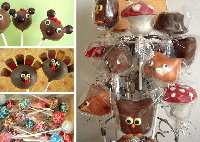 Cake pops for thanksgiving, cute turkeys!