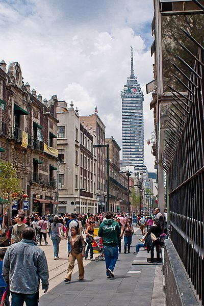Walk Calle Madero from Bellas Artes to Zocalo