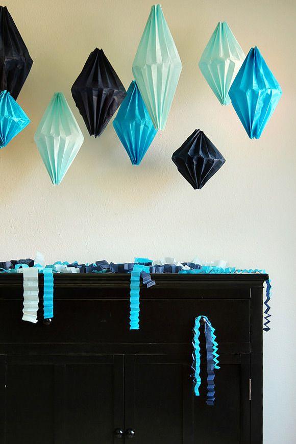 DIY Geometric Lanterns