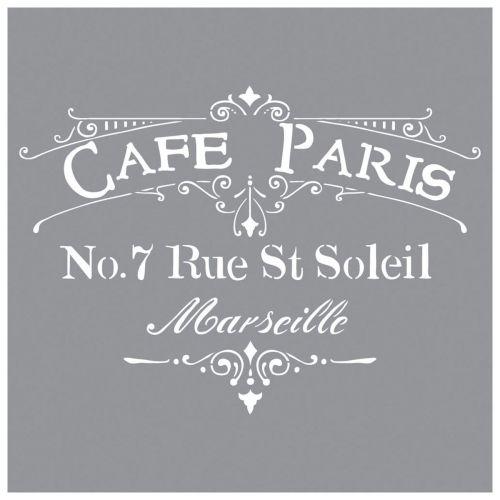 Pochoir - Café de Paris - 30x30 - Rayher
