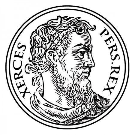 """Xerxes regierte von 486 bis 465 v. Chr. als achämenidischer Großkönig und ägyptischer Pharao. Sein Name hat die Bedeutung """"Herrschend über Helden"""". #Xerxes #König #Persönlichkeit #Wadeco // http://www.wadeco.de/xerxes-wandtattoo.html"""