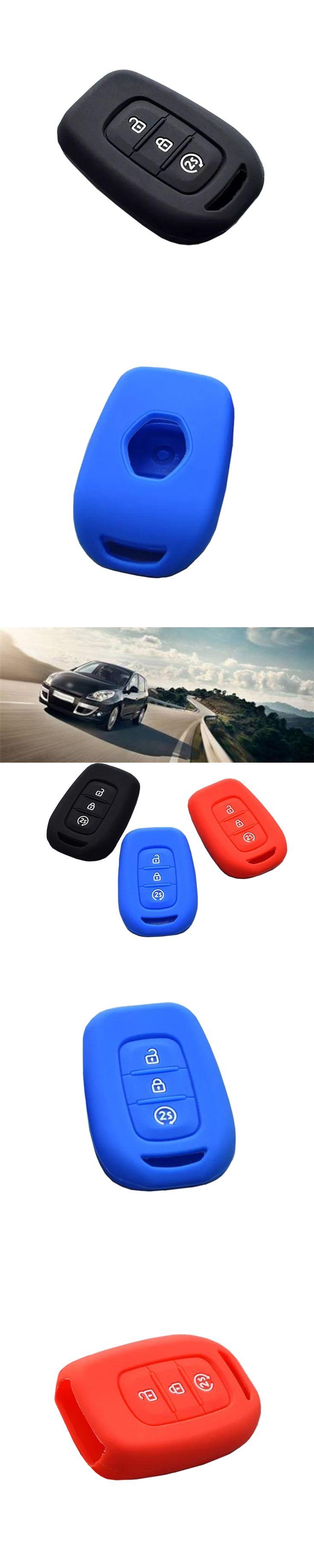 New 3 Button Silicone Remote Key Fob Case Cover Holder For Renault Duster Sandero Logan Clio Captur Laguna Scenic 2015 2016 2017