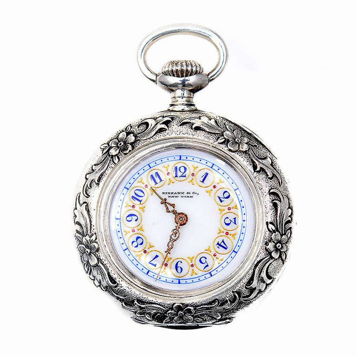 Tiffany & Co Sterling Silver Art Nouveau Pendant Watch circa 1900   From a unique collection of vintage pocket watches at http://www.1stdibs.com/jewelry/watches/pocket-watches/