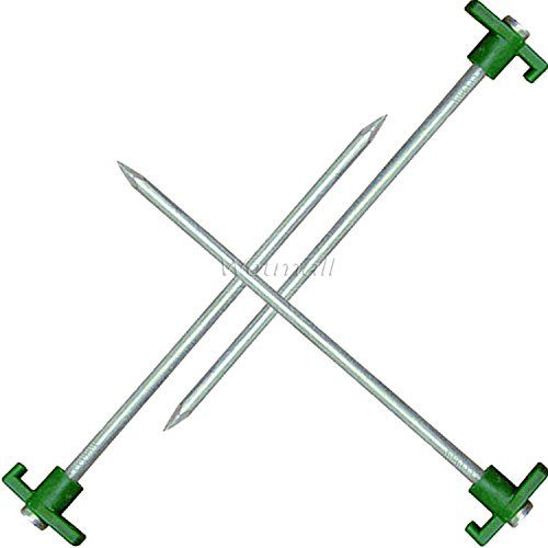 3 Pack Tent Peg  With Green Plastic Stopper 105inx 8mm ** Learn more by visiting the image link.