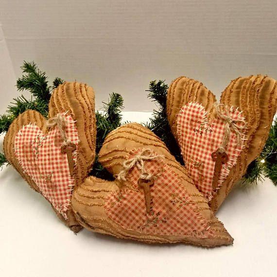 23eceb14be773dc375b395c784244694 - Primitive Valentine Pillows, Heart Mini Pillows, Valentines Decor, Valentines Da...