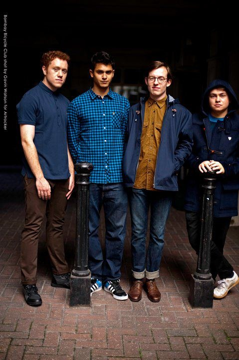 Bombay Bicycle Club...they look so auchward but they seem so honest and true lol
