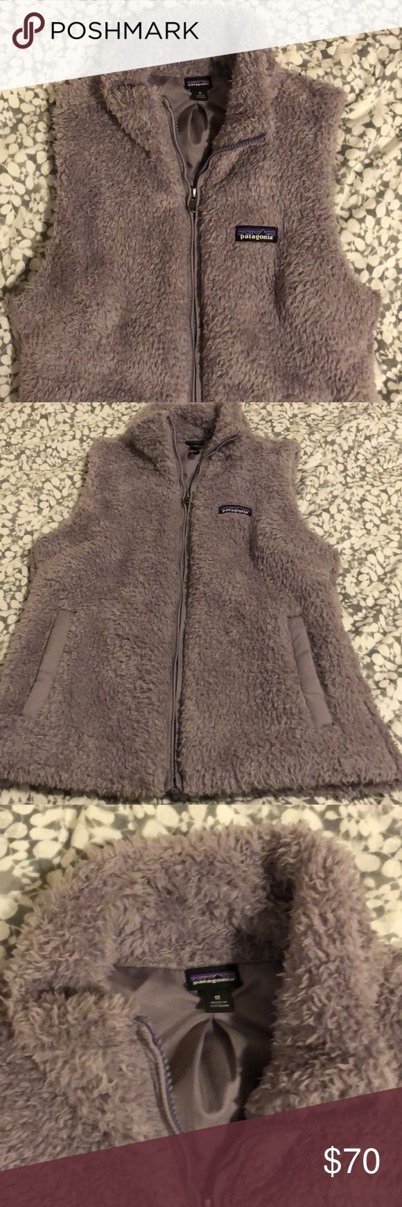 Patagonia Los Gatos Purple Fuzzy Vest Only worn once! This Patagonia Vest is a must have for winter! It does run a bit small. Super cozy and soft Patagonia Jackets & Coats Vests