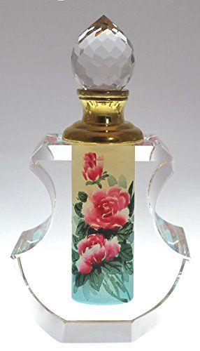 Pink Tea Rose Perfume Bottle - Hand-Painted Crystal, PBA04-471 Lucid Realm Crystal http://smile.amazon.com/dp/B00OPABODS/ref=cm_sw_r_pi_dp_7e3Cvb1GG73WZ
