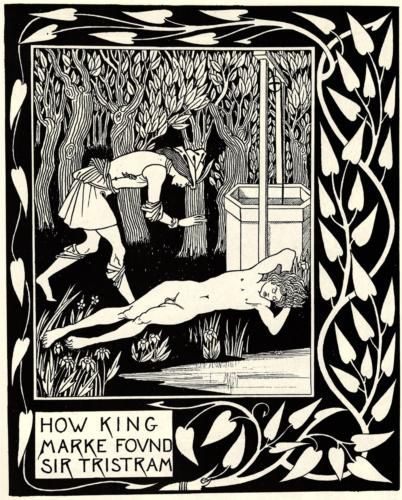 How King Marke Found Sir Tristram - Aubrey Beardsley