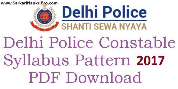 Delhi Police Constable Syllabus 2017