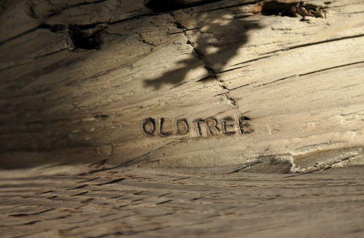Świecznik - stara belka - OLDTREE - Świeczniki