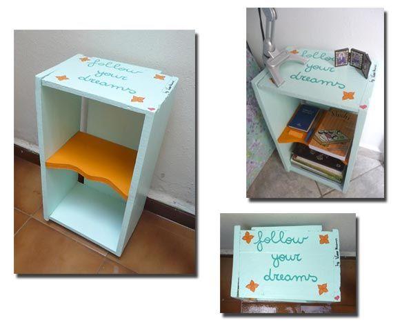 Transforme o caixote usado em criado-mudo, passo-a-passo   Vila do Artesão