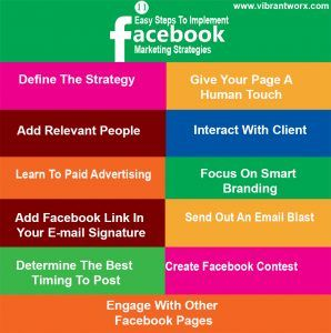 Learn Simple And Effective #Facebook Marketing Strategy To Boost Your #Website Traffic. Know more at http://www.vibrantworx.com/blog/2017/02/28/11-easy-steps-implement-facebook-marketing-strategies/