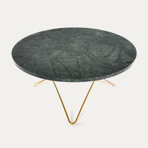 O TABLE - ox denmarq Green marble brass   www.bijdendom.nl