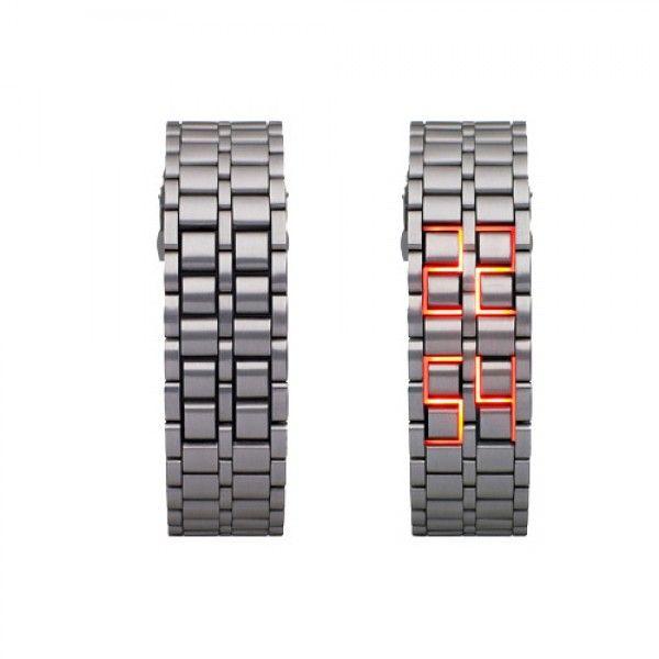 Metal Bileklikli LED Kol Saati http://bit.ly/1V81Cql