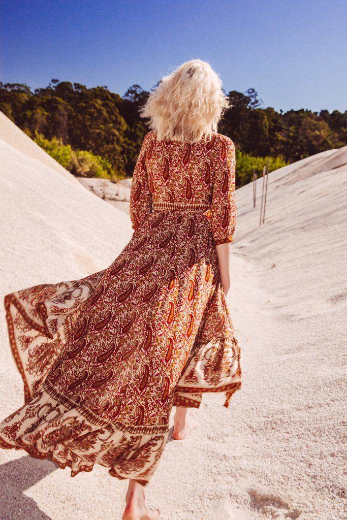 Wild Magnolia Maxi Dress in Indian Dusk