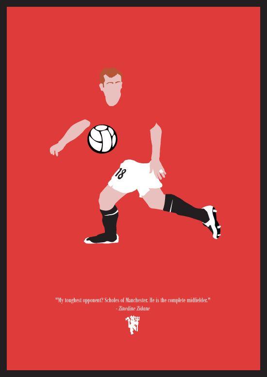 Paul Scholes by Dan Leydon, via Behance