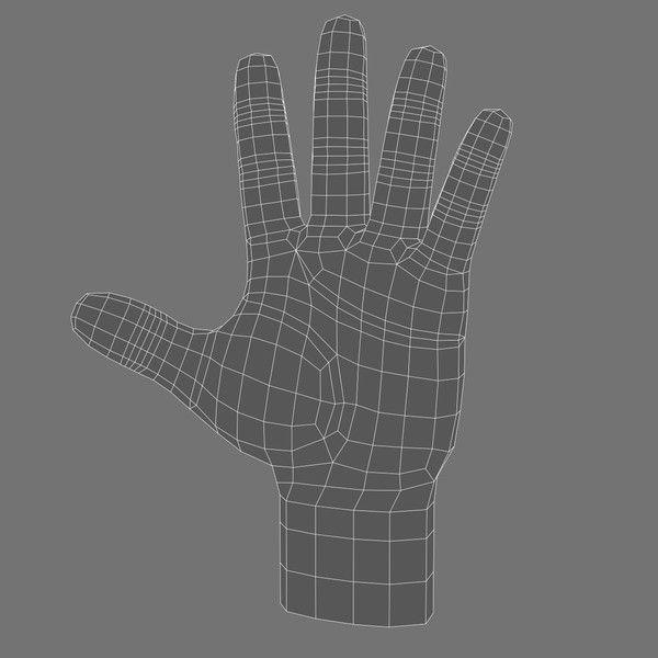 3d Model Cartoon Hand No:7