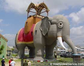 Lucy is the world's largest elephant, and the only one in America designated as a National Historic Landmark. Built in 1881 and located in Margate City