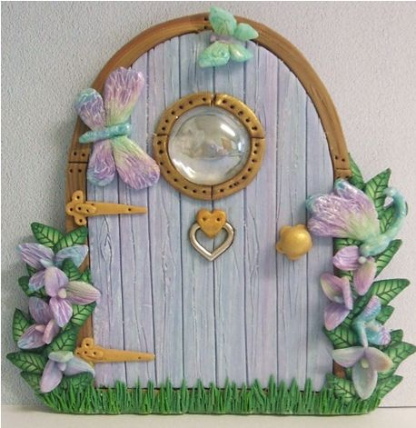 Blue and Lilac Fairy Door | Hand made in polymer clay with t… | Flickr