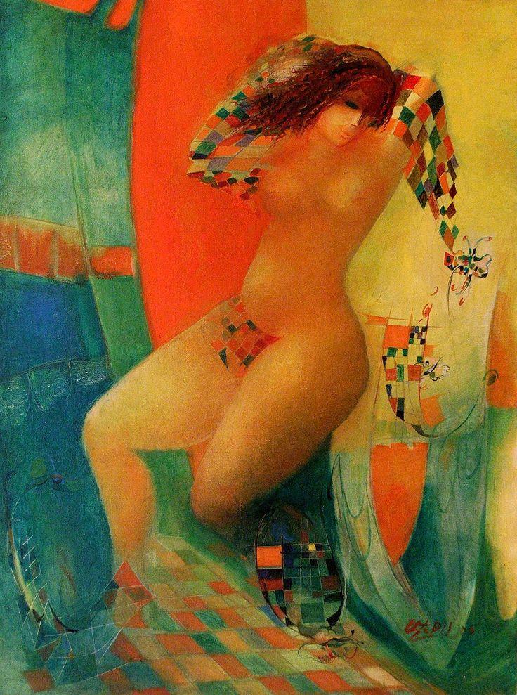 """Nu №4"" oil on canvas, 85x70"