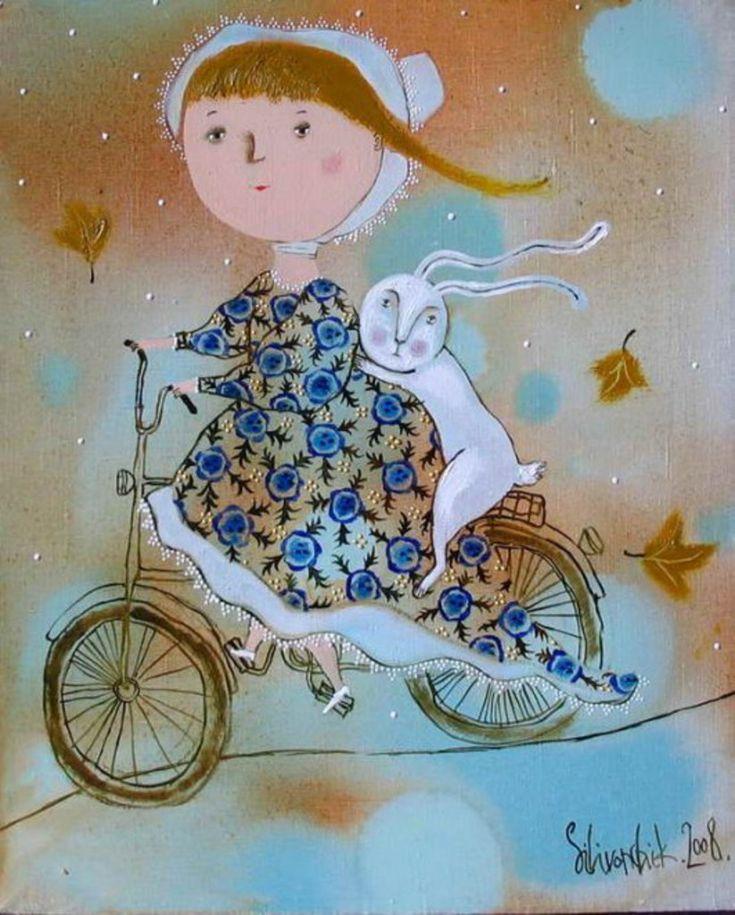 Анна Силивончик: «Иллюстрации для книг рисую на холсте. Так привычнее»