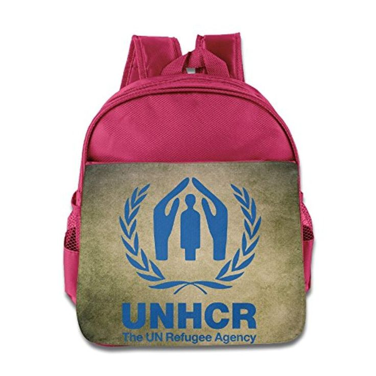 The UN Refugee Agency Logo Backpack Children School Bag Pink - Brought to you by Avarsha.com