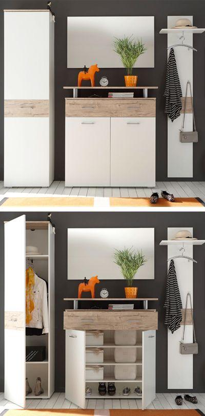 Helle garderobe von carry home stauraum und design zu einem g nstigen preis gaderobe - Linea natura garderobe ...